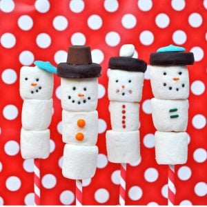 How to Make a Darling Edible Marshmallow Snowman