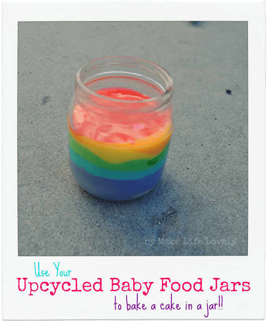 Cake in a Baby Food Jar, Upcycled Baby Food Jars, by Make Life Lovely