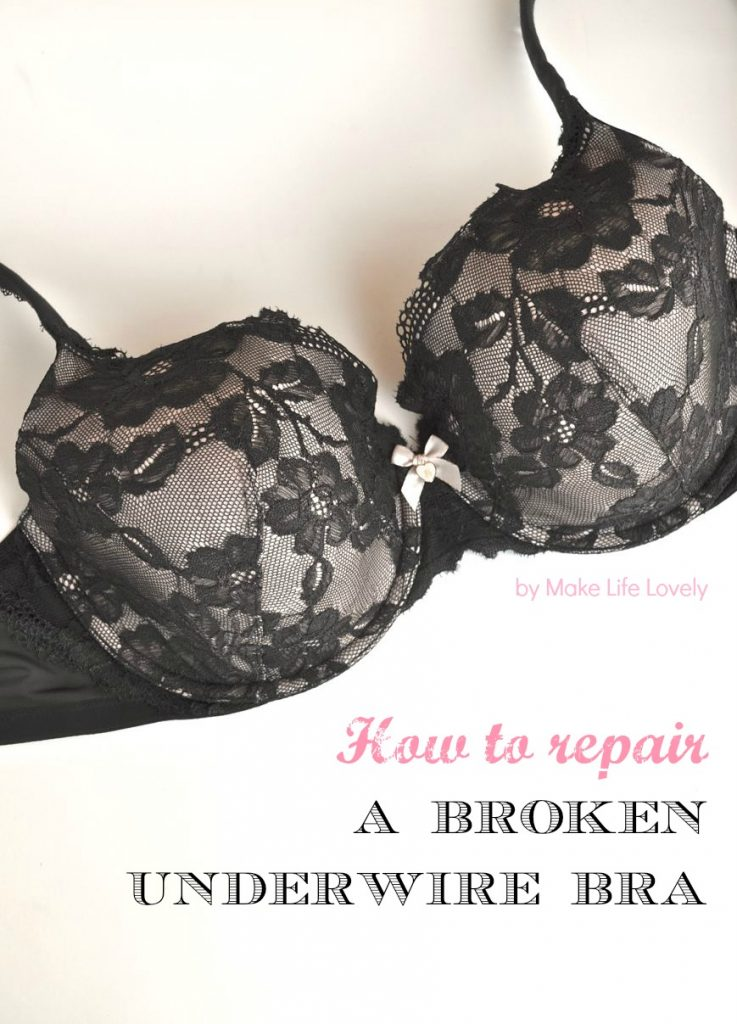 How to Repair a Broken Underwire Bra. Don't throw away that $50 bra because the underwire is popping out. Repair it with this simple tutorial!