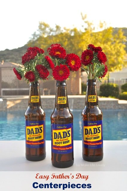 Easy Father's Day Bouqet Centerpieces - Make Life Lovely