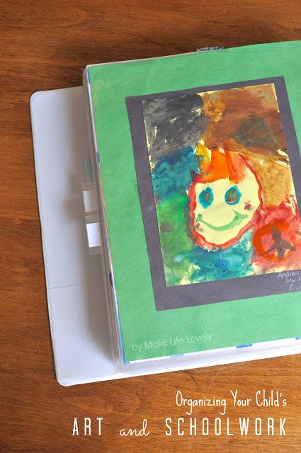 How to Organize Your Children's Art and School Papers, by Make Life Lovely