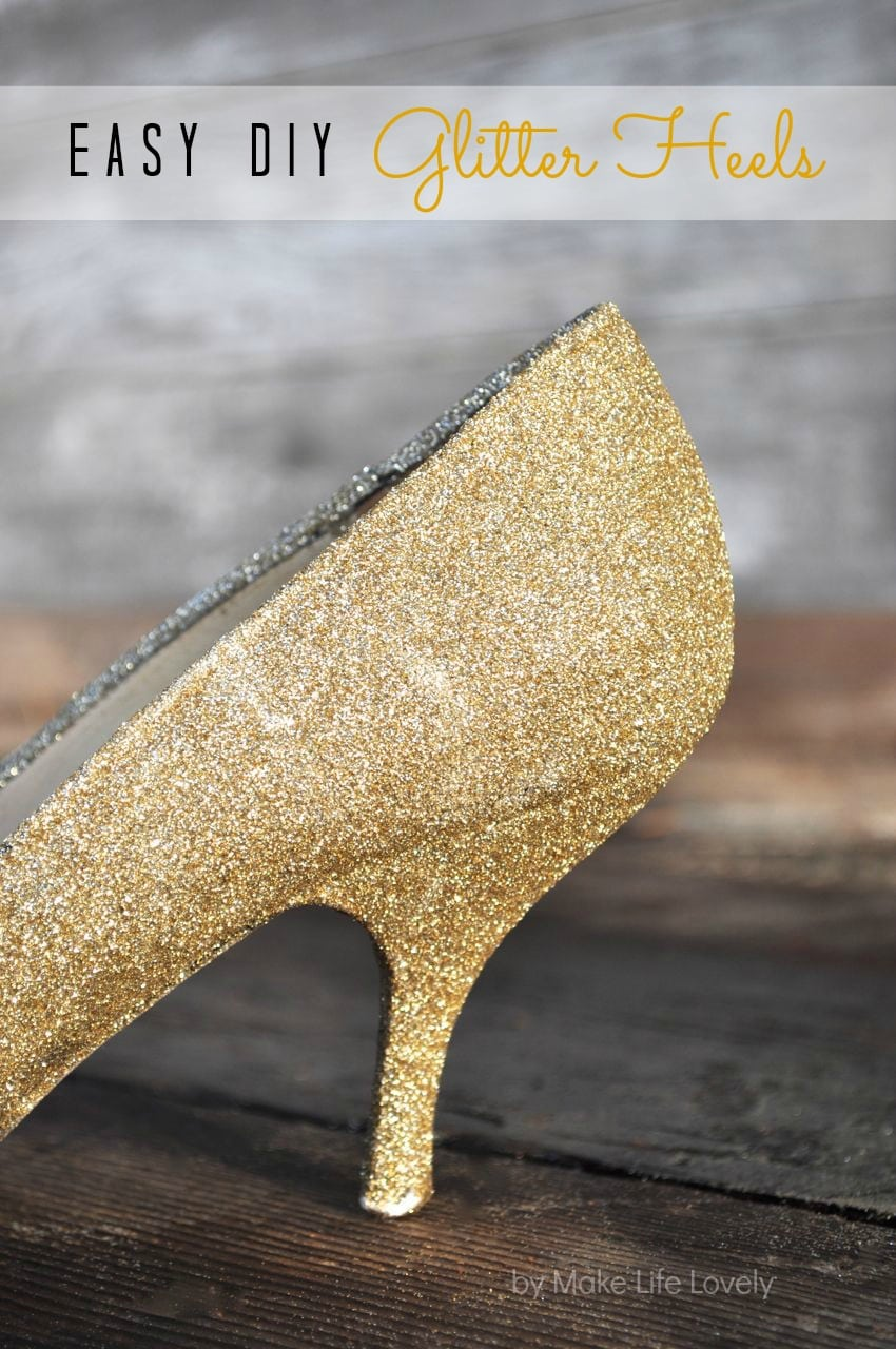 How To Make Gold Glitter Heels