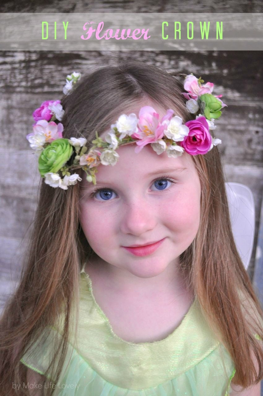 Diy flower crown make life lovely diy flower crown wreath izmirmasajfo
