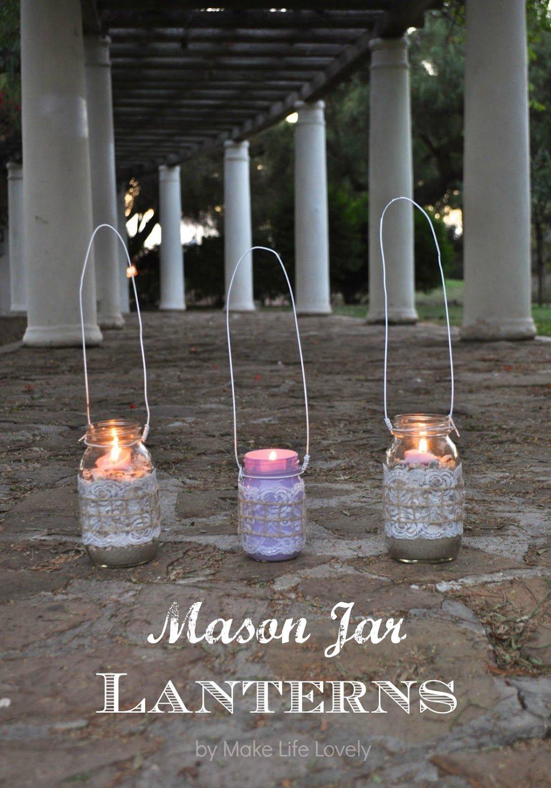 Diy Mason Jar Flower Wall Decor: How To Make Mason Jar Lanterns