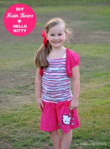 DIY Hair Bows + New Hello Kitty Line at Macy's