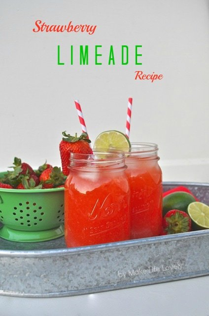 Delicious Strawberry Lime Drink Recipe