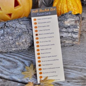 Fall Bucket List Ideas + Free Printable
