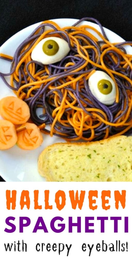 halloween spaghetti with eyeballs