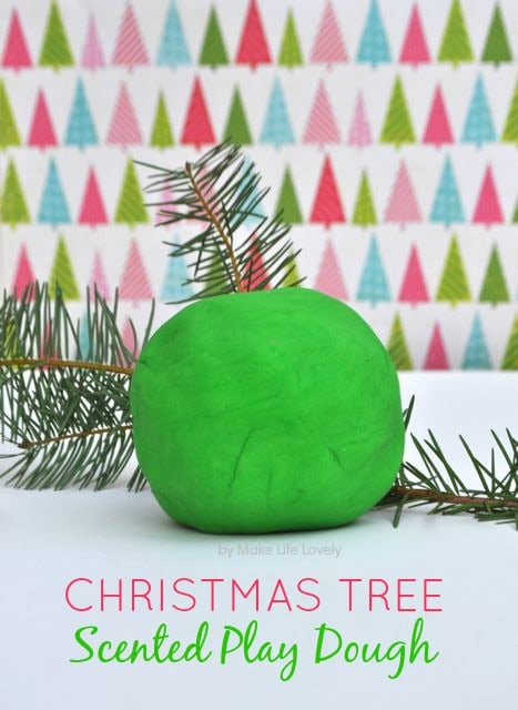 Christmas tree play dough