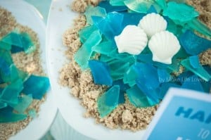 Edible sea glass for an ocean or under the sea birthday party