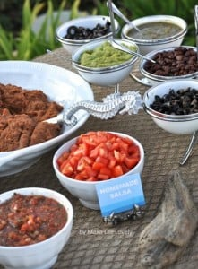 Ocean under the sea birthday party taco bar dinner idea