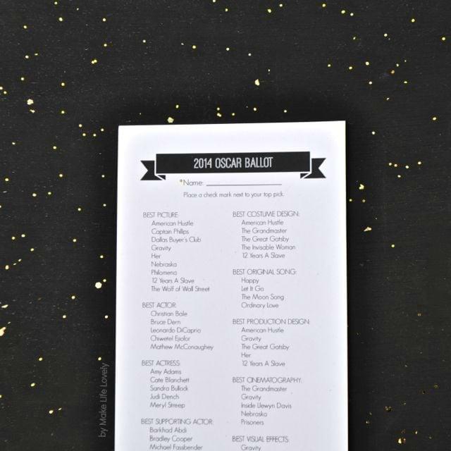 Vote February Room Finalists 2014: 2014 Printable Oscar Ballot