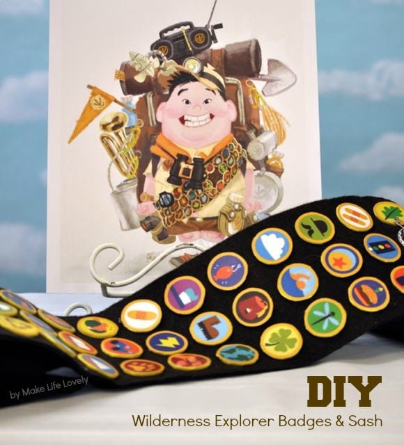 Wilderness Explorer badges and Russell UP sash DIY