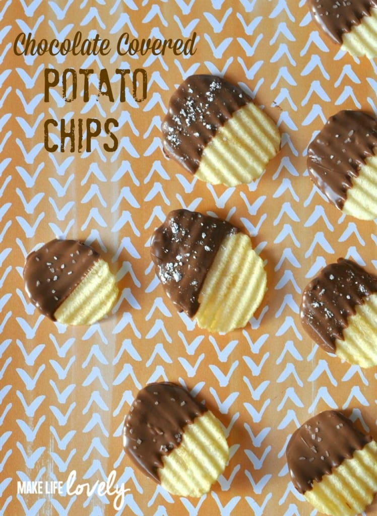 Chocolate Covered Potato Chips, by Make Life Lovely