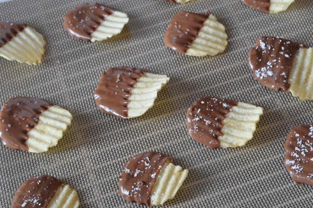 Chocolate Covered Potato Chips #shop