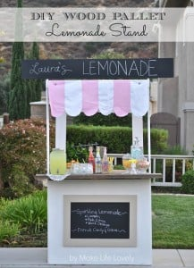 DIY Lemonade Stand from Wood Pallets + World Market's Summer in Paris Sweepstakes