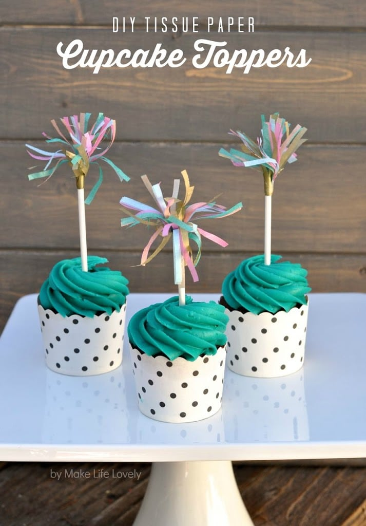 Tissue Paper Cupcake Toppers - Make Life Lovely