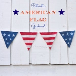 DIY American Flag Garland