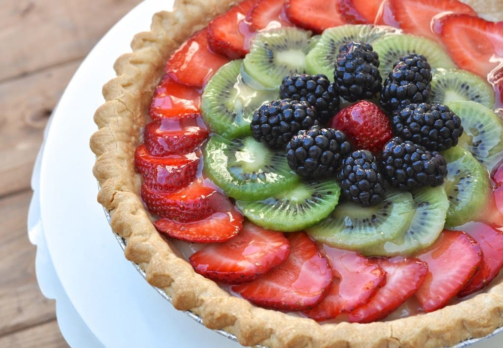 Easter brunch fresh fruit tart