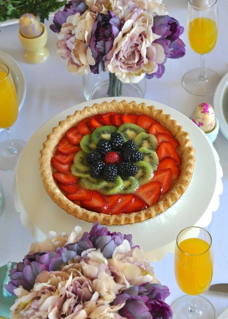 Easter brunch key lime tart
