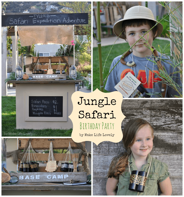 Jungle Safari Birthday Party Make Life Lovely