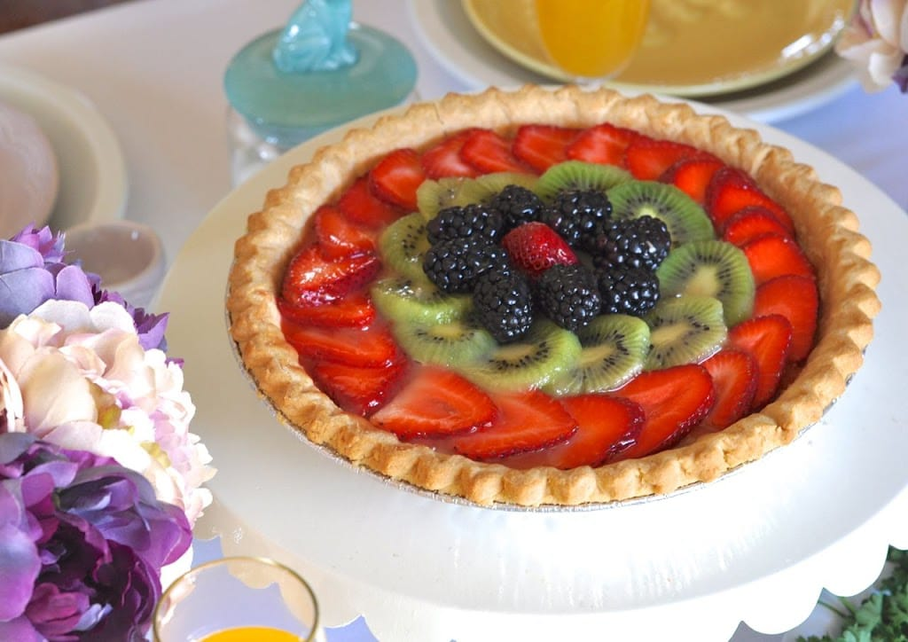 Fresh fruit tart recipe for Easter brunch