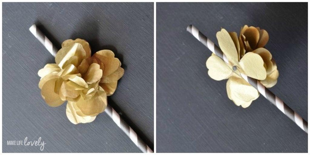 Make Your Own Tissue Paper Flower Straws