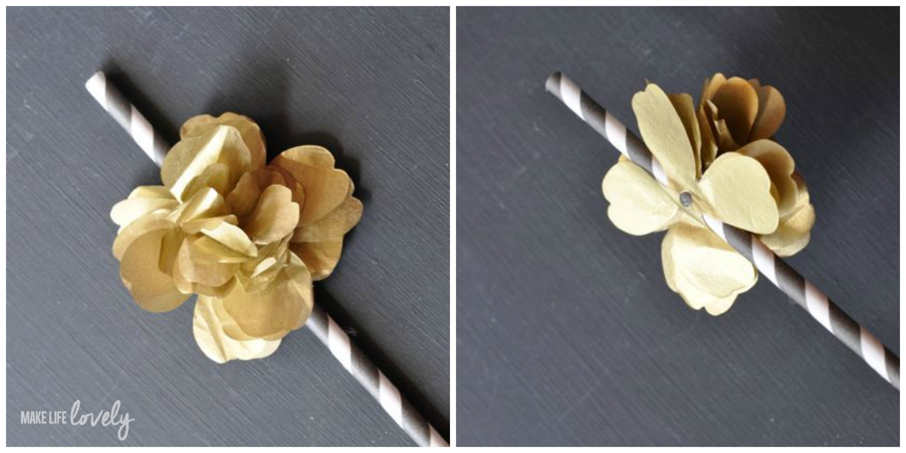 Diy Flower Straws For A Party Make Life Lovely
