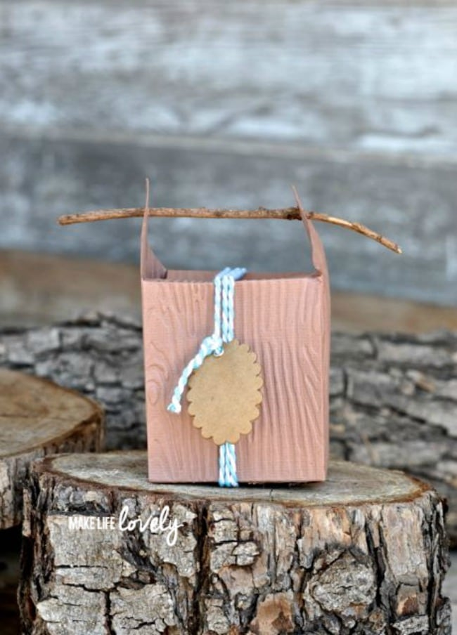 Rustic Wood Paper Box Tutorial
