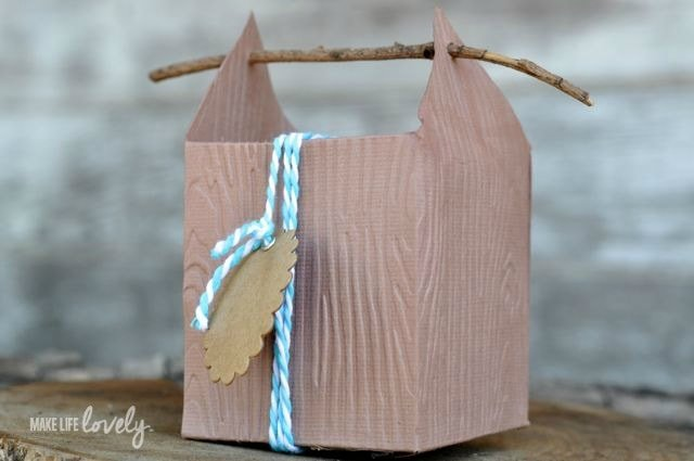 Rustic Wood Paper Box