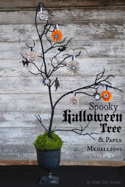 spooky halloween tree decoration free printable make life lovely