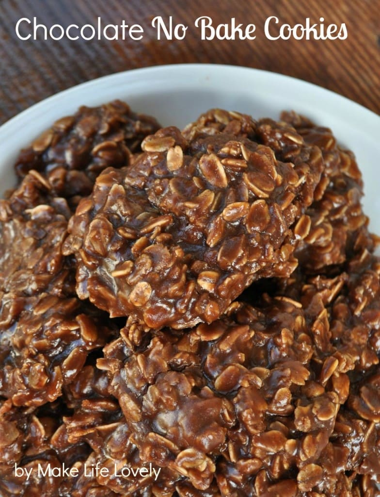 Delicious chocolate no bake cookies recipe with oatmeal