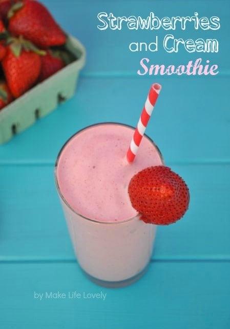 Strawberries and Cream Smoothie Recipe