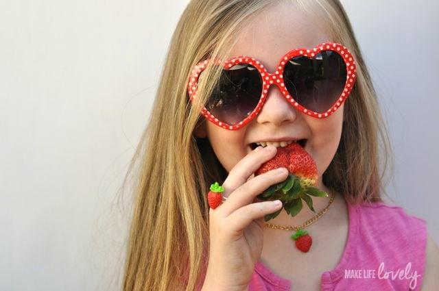 DIY Strawberry Jewelry