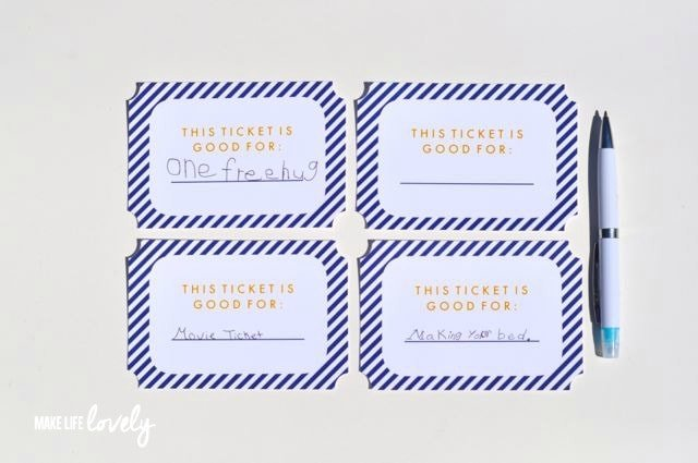 DIY Father's Day Tickets | by Make Life Lovely