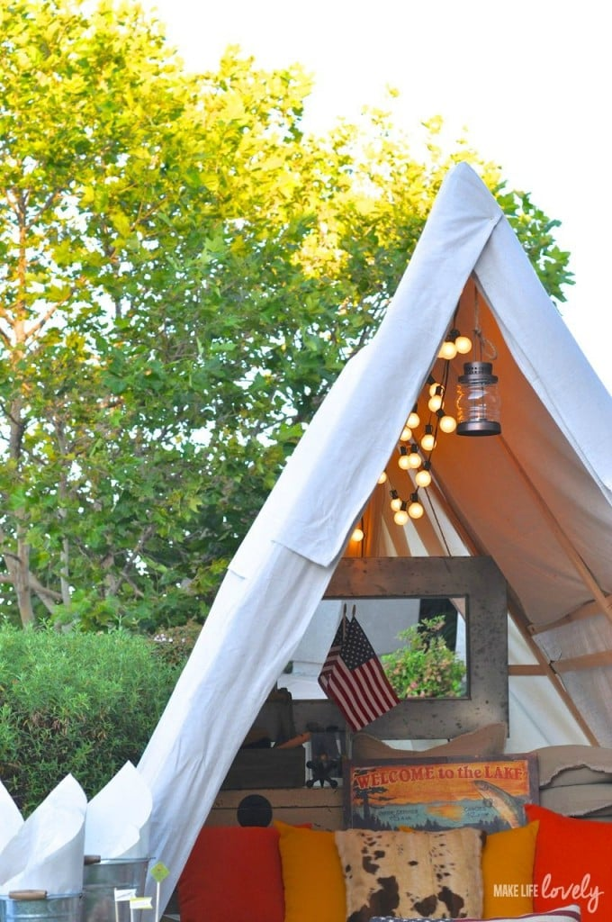 Glamping tips and ideas make life lovely for Glamping ideas diy