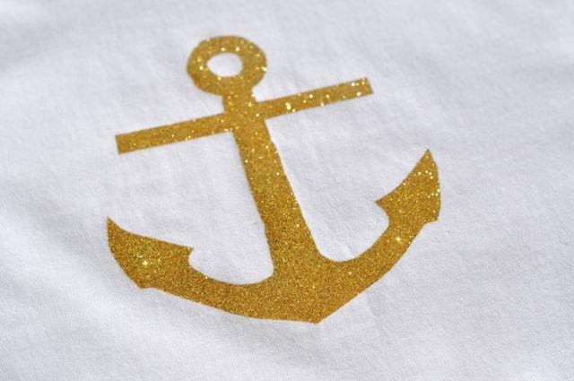Gold Glitter Anchor Shirt