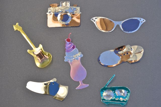 Shrink plastic charms using sizzix dies