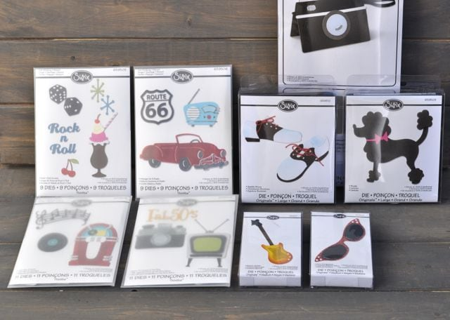 The 50's Sizzix Jen Long Die Collection