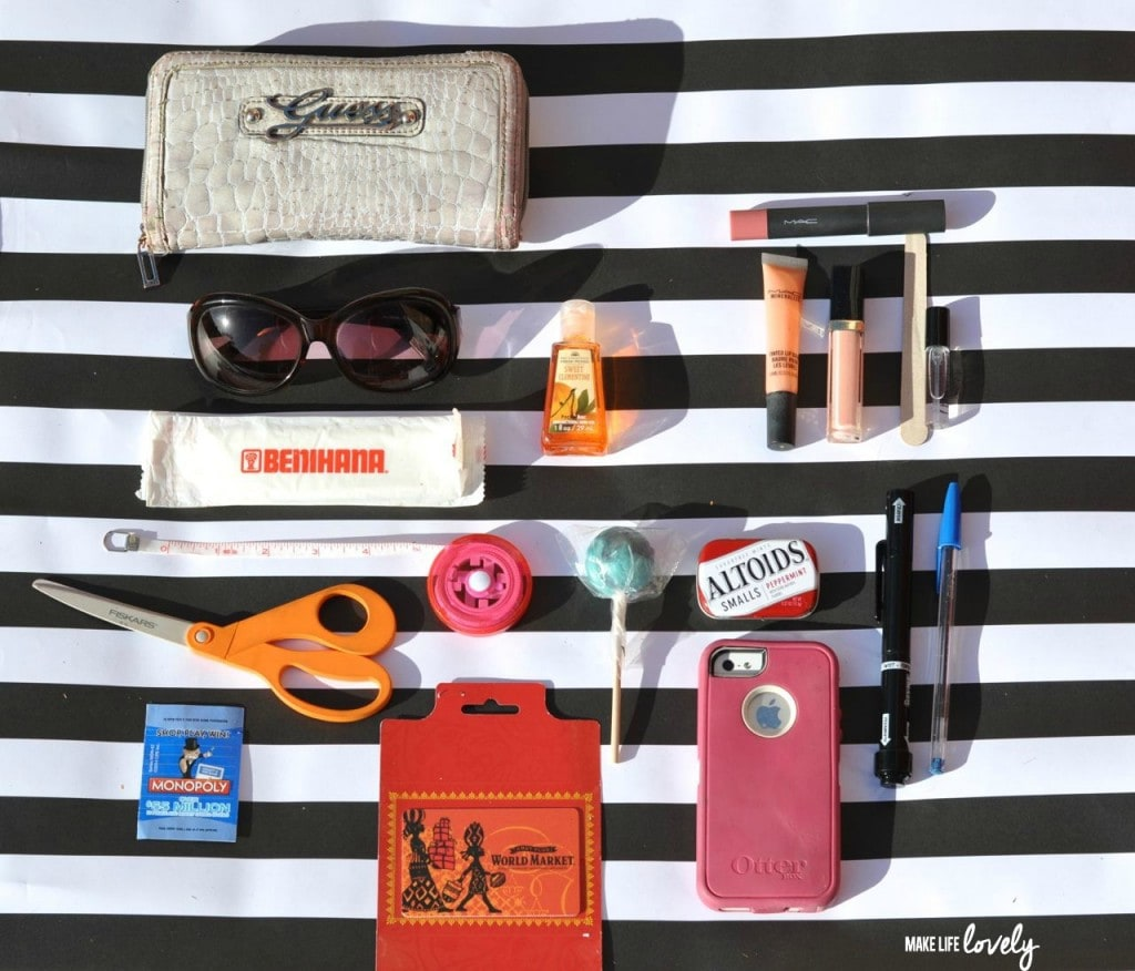 What's in my handbag? Contents in my purse