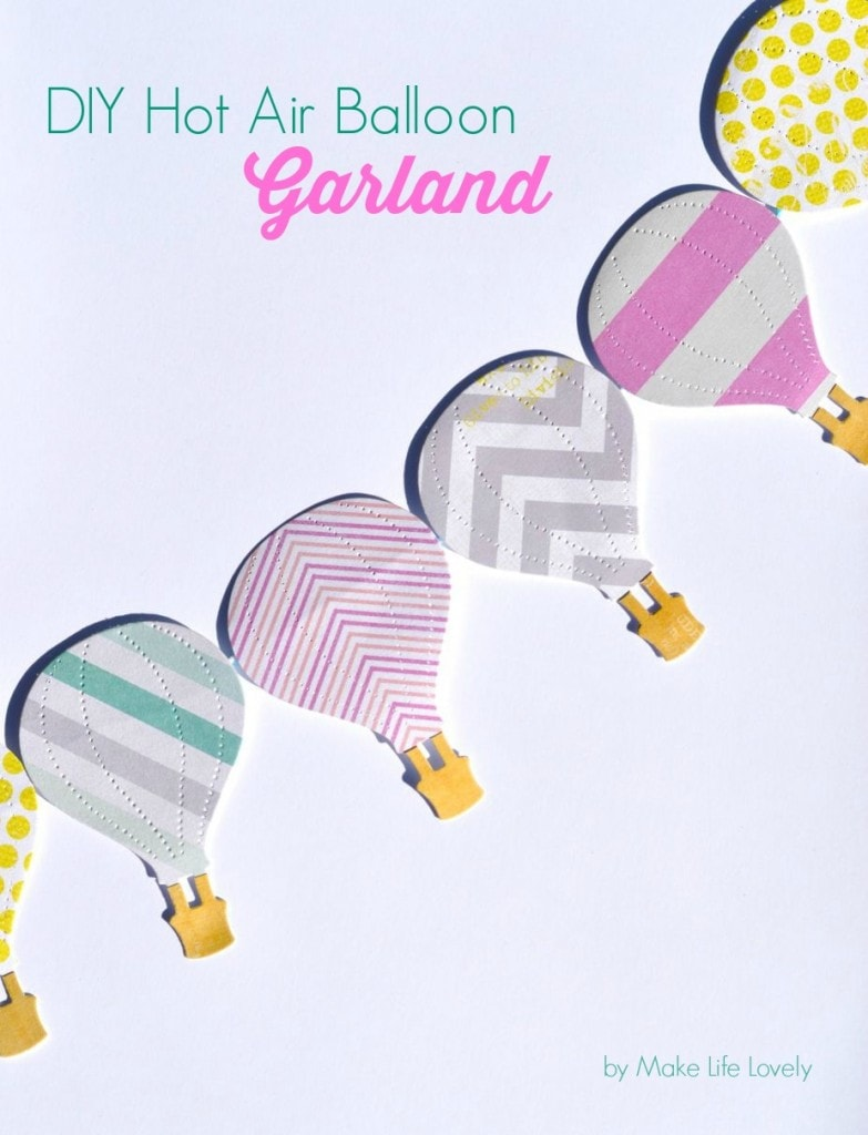 DIY Hot Air Balloon Garland