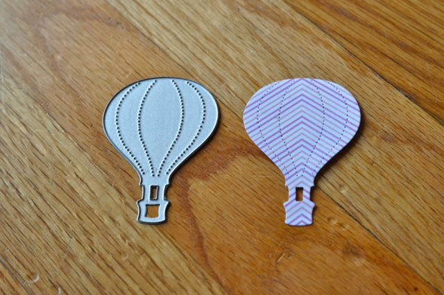 Paper hot air balloons with Sizzix dies