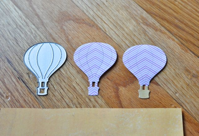 Paper hot air balloons