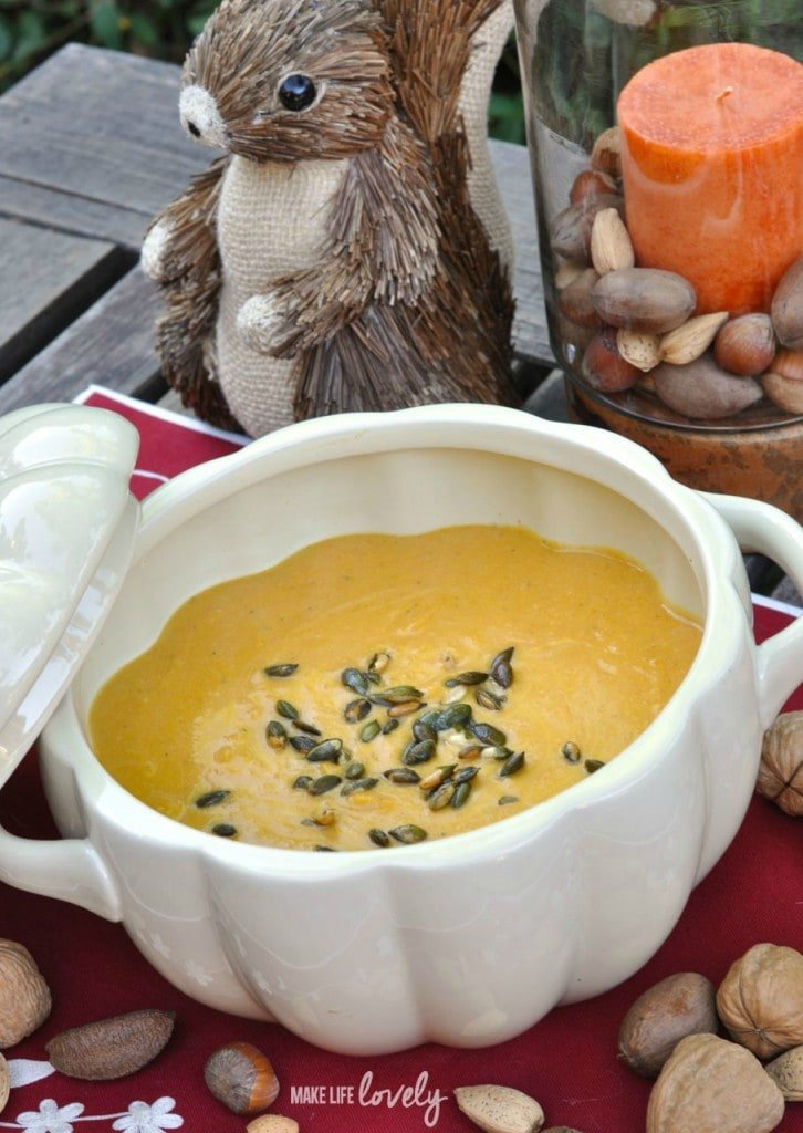 Butternut Squash Soup with Pumpkin