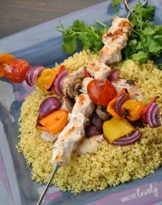 Grilled chicken skewers with marinade recipe