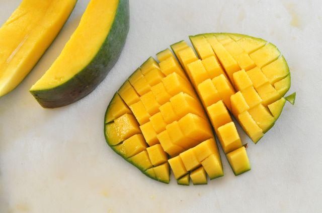 diced fresh mango