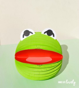 Muppets Paper Lantern Craft of Kermit the Frog