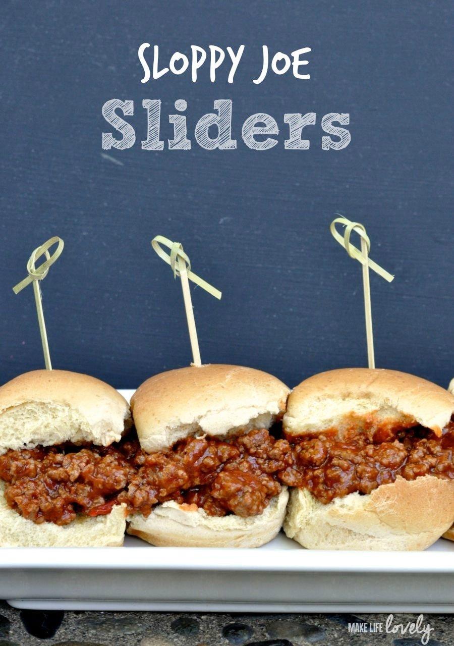 Sloppy Joe Sliders - Make Life Lovely