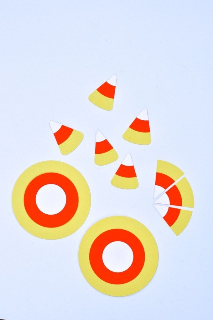 DIY Paper Candy Corns (from three circles)