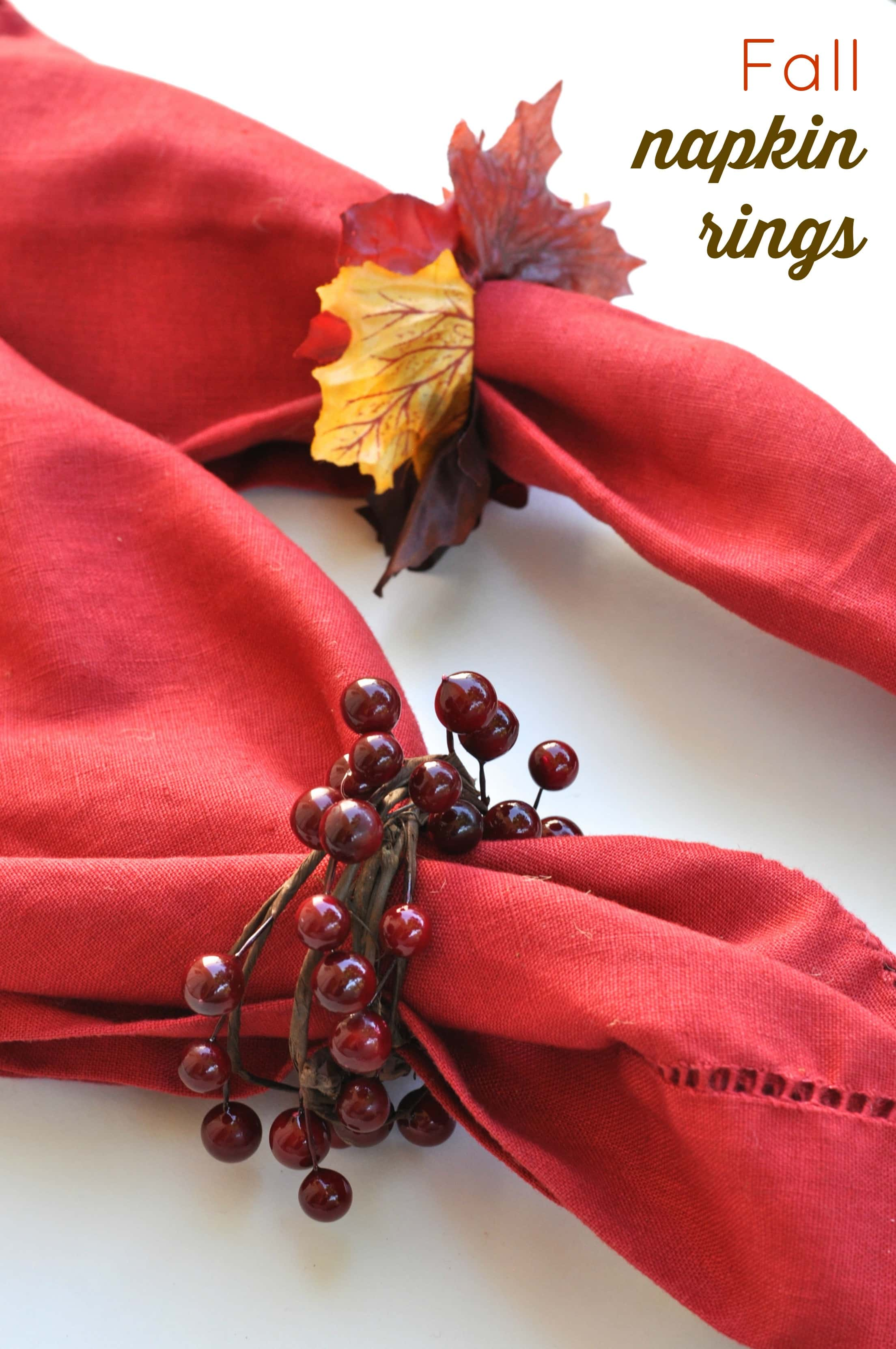 Diy fall napkin rings make life lovely for Diy fall napkin rings